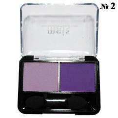 Тени MEIS MS-0225 двухцветные Фиолетовые Матовые Тон 02