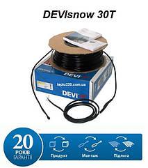 DEVI snow 30T - 20 м., 630 Вт. (при 230В) Нагрівальний двожильний кабель для дахів, ринв, водостоків