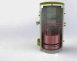 Бак непрямого нагріву з теплообмінником ВТ-01-750 Kuydych