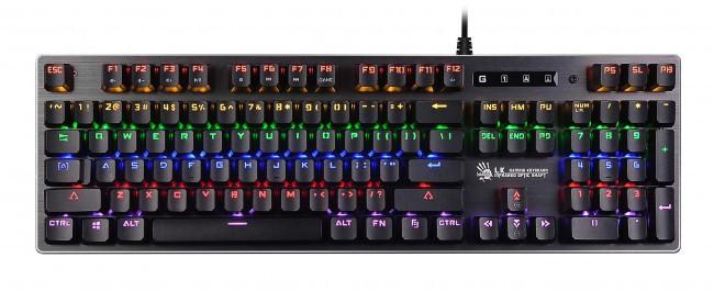 Клавиатура A4tech Bloody B760, USB Black игровая, LK-Orange switches, механическ