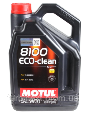 Масло 5W30 MOTUL 841551 ECO-clean 8100 (5L) (101545)