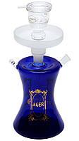 Стеклянный кальян Ager Temple mini (мини кальян в чемодане), синий