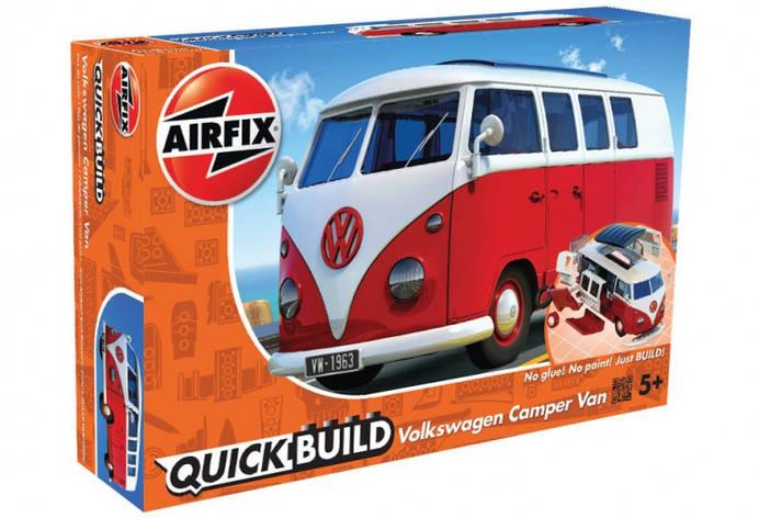 VW Camper Van БЫСТРАЯ СБОРКА БЕЗ КЛЕЯ. AIRFIX J6017, фото 2