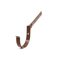 Тримач ринви металевий боковий 125мм, Коричневий RAL 8017