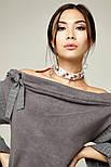 2259 топ-юбка Смид, светло-серый (S), фото 2