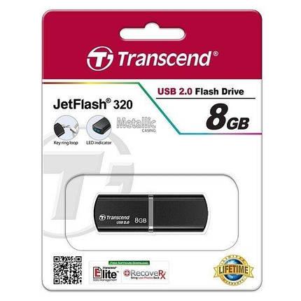 Флешка USB Transcend JetFlash 320 8GB Metal Black (TS8GJF320K), фото 2