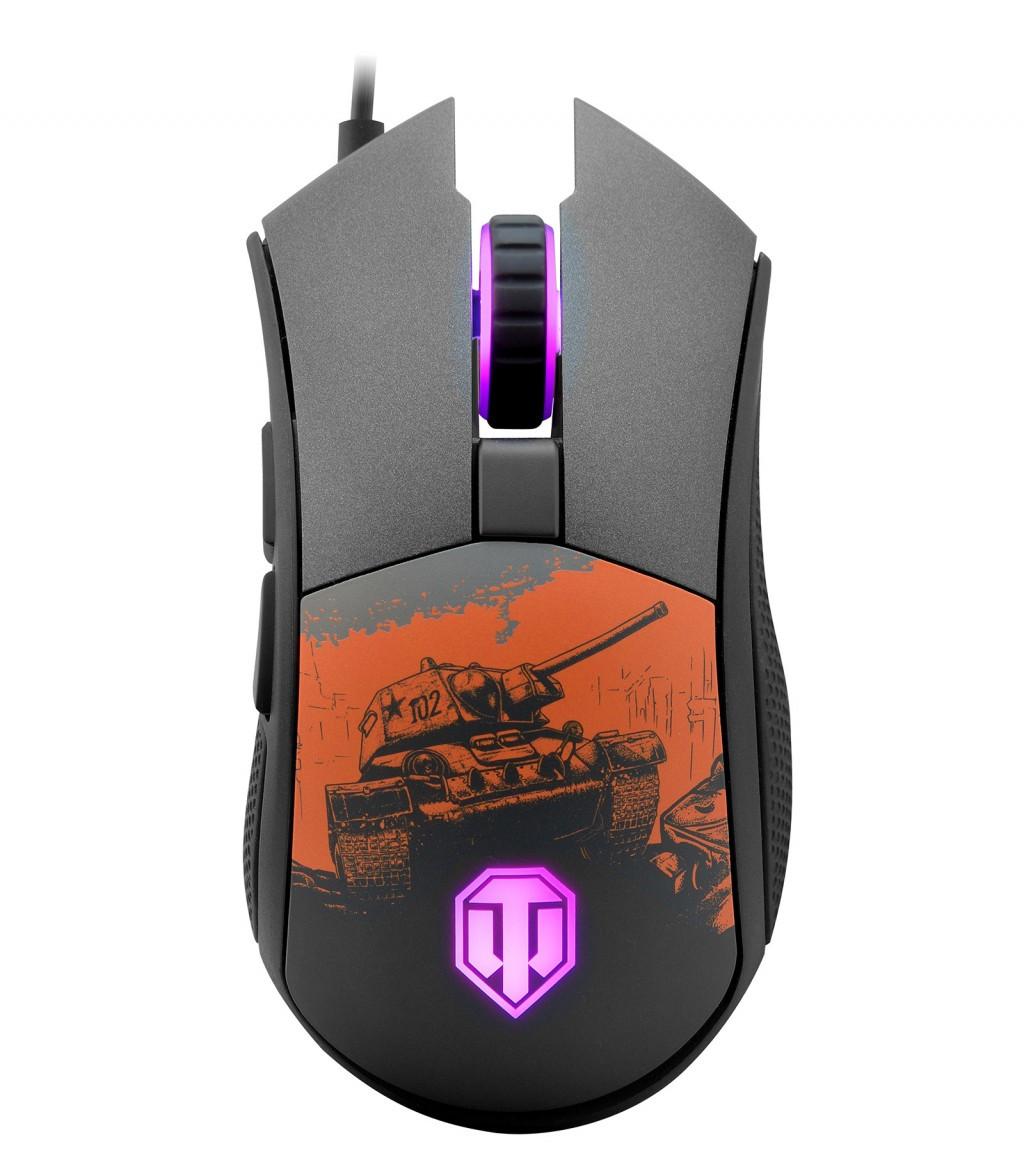 Мышь Cougar Revenger S 'World of Tanks', USB, игровая, 12000 dpi, 2000 Hz, RGB п