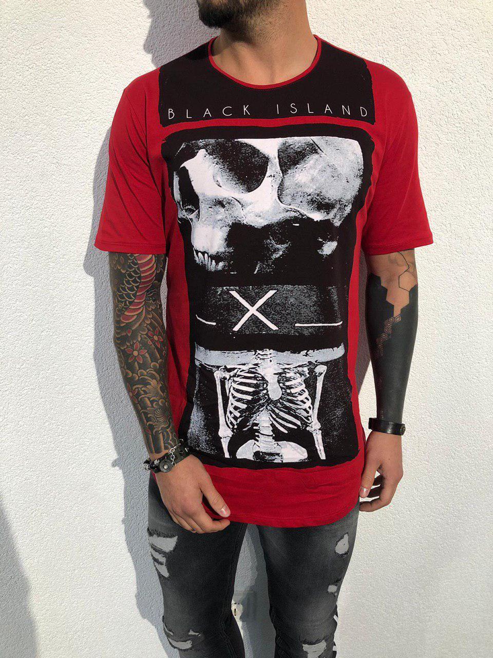a0a8bfed1d00 Мужская футболка Black Island ADA1916 красная - Компания