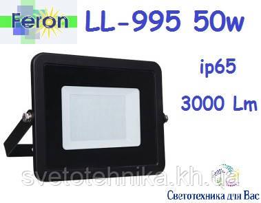Прожектор светодиодный Feron LL-995 50W 6500K  IP65 чёрній