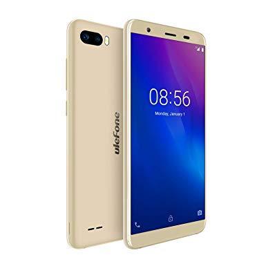 """Смартфон Ulefone S1 1/8Gb Gold, 8+5/5Мп, 5,5"""" IPS, 2SIM, 3G, 3000мА, 4 ядра"""
