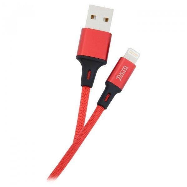 Кабель USB 2.0 - 1.0м AM/Lightning Tecro LT-0100RD красный