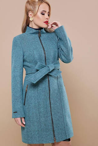 Новинка сезона! демисезонное женское пальто на молнии размеры:42,44,46, фото 2
