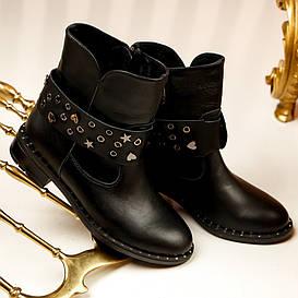 Ботинки женские  №222-кожаные (36-41)