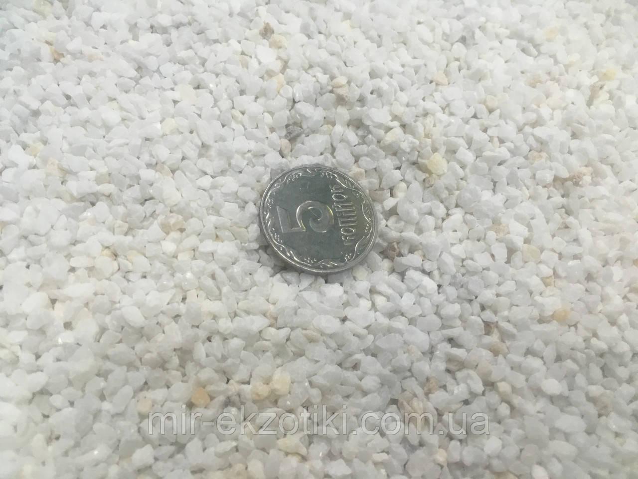 Грунт для аквариума белый (2,5-3мм) Крошка мраморная  1кг