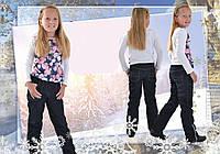 Штаны джинсовые детские утепленные для девочки, фото 1