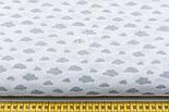 """Ткань бязь """"Маленькие облака разных размеров"""" серые на белом, коллекция Mini-mikro, №1885а, фото 2"""