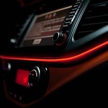 Холодный неон Red 5м + инвертор неон в автомобиль красного цвет 5м + инвертор