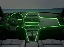Холодный неон Light green 3м + инвертор неон в автомобиль зеленого цвет 3м + инвертор