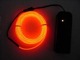 Холодный неон Orange 3м + инвертор неон в автомобиль оранжевого цвет 3м + инвертор