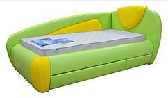 Ліжко САНТА односпальне, ортопедична, з кутовими спинками. Під замовлення