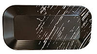 """Плоское черное блюдо """"Чёрный камень"""" 300 мм HLS (G1733)"""