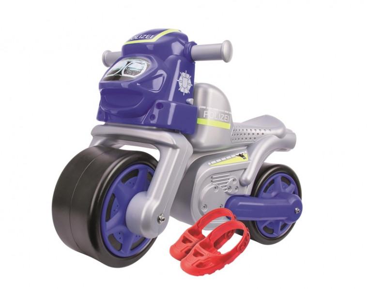 Мотоцикл для катания ребенка Big Полиция с защитными насадками (56312)
