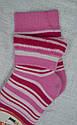 Детские носки махровые в полоску розовые р. 18-20 (Brand, Польша), фото 2