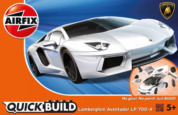 Lamborghini Aventador LP700-4. БЫСТРАЯ СБОРКА БЕЗ КЛЕЯ. AIRFIX J6019, фото 2