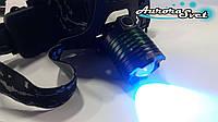 Светодиодный налобный фонарь УФ.  LED фонарик. Светодиодный фонарь. 365nm