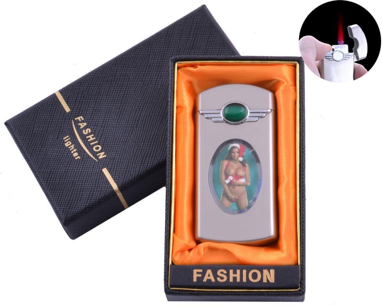 Запальничка в подарунковій коробці Дівчина (Турбо полум'я) №XT-17-1