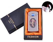 Зажигалка в подарочной коробке Девушка (Турбо пламя) №XT-17-3