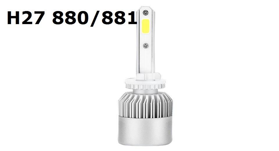 Светодиодная LED лампа головного света H27 880/881 COB 8000Lm 36Watt