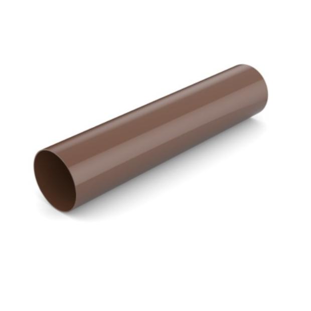 Водостічна труба BRYZA 90мм/3м, Коричневий RAL 8017