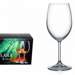 Набор бокалов для вина Bohemia Lara 350 мл 6 шт