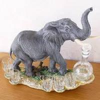 Штоф-бар Слон 44 см, фото 1
