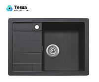 Мойка кухонная гранитная Tessa Siera black 36002