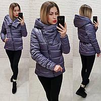 Женская куртка демисезонная арт. M523 сиренево серая