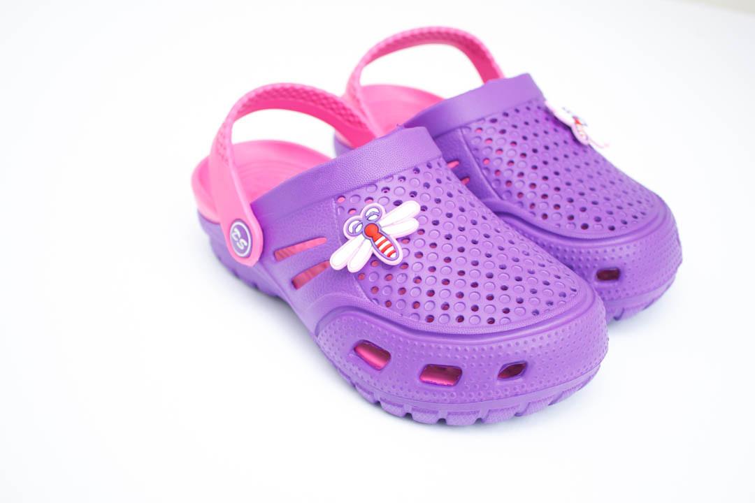 Детские кроксы ( Код: Сабо Crocs фиол-малина )