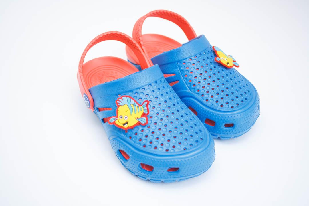 Детские кроксы ( Код: Сабо Crocs син-персик )