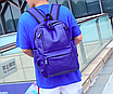 Рюкзак мужской кожзам городской Trend синий, фото 2