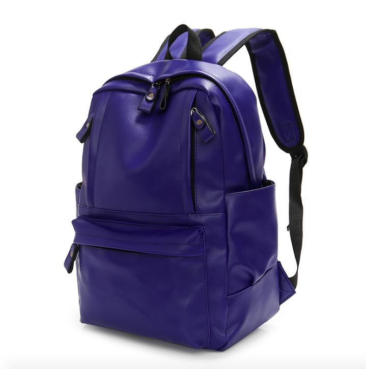 Рюкзак мужской кожзам городской Trend синий