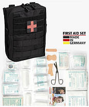 Аптечка Black Large 43 - Piece First Aid Set Leina, Mil - Tec. Німеччина. Новий товар., фото 2