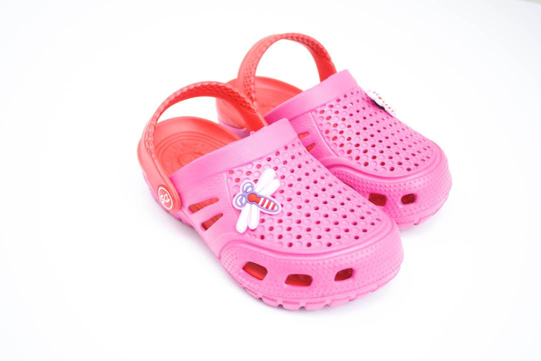 Детские кроксы ( Код: Сабо Crocs малина-красный )