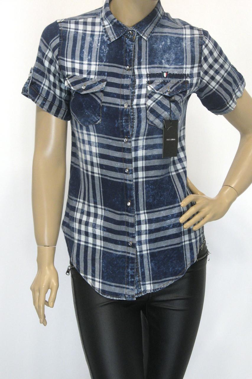 Жіноча сорочка в клітинку  Dolce Gabana