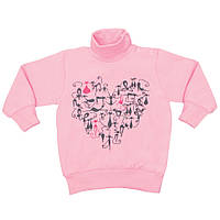 Детский свитер для девочки Кошечки р 74 см на кнопочках