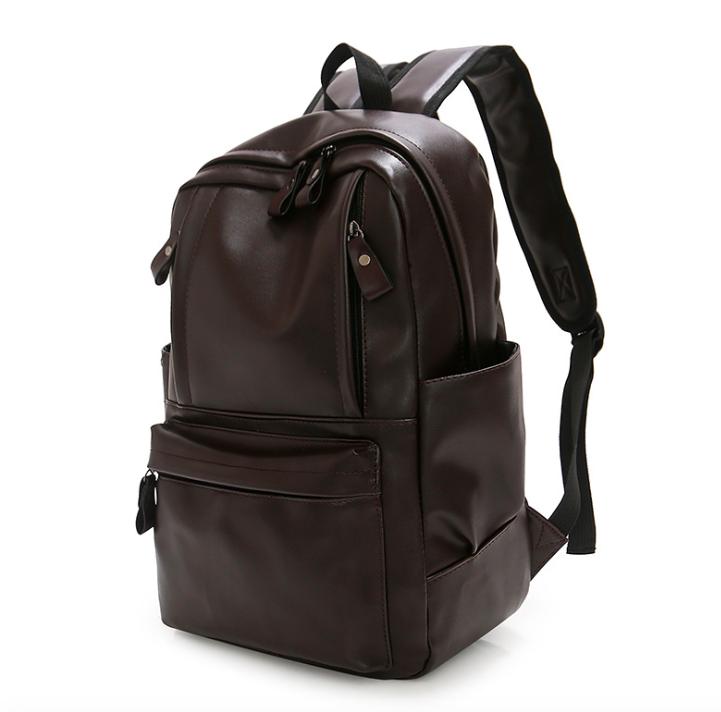 Рюкзак мужской кожзам городской Trend коричневый