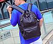 Рюкзак мужской кожзам городской Trend коричневый, фото 3