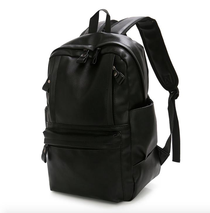 Рюкзак мужской кожзам городской Trend черный