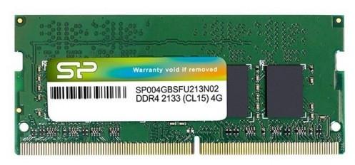 Память SO-DIMM, DDR4, 4Gb, 2133 MHz, Silicon Power, 1.2V (SP004GBSFU213N02)