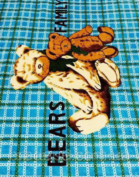 Микрофибровая простынь,покрывало ELWAY 411-1 детский размер (110*140)